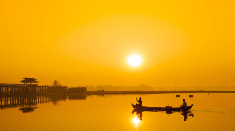 Mandalay lake sunrise Myanmar