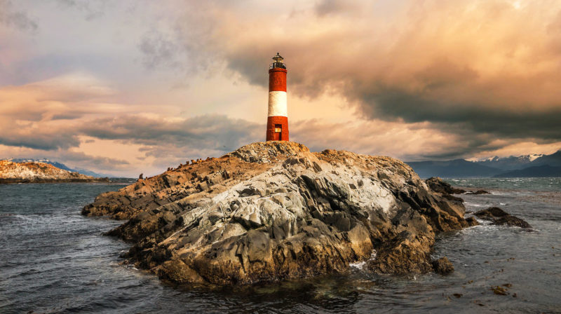 Les Eclaireurs Lighthouse Argentina Ushuaia