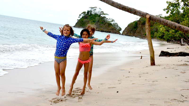 Rosa and friends in Costa Rica