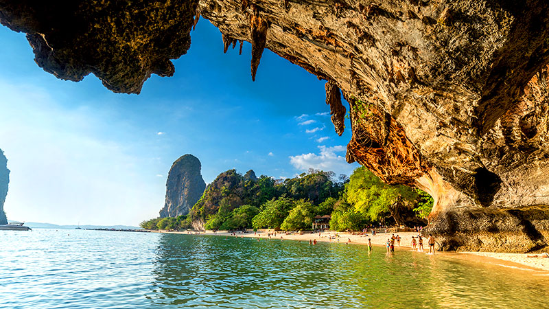 Stalactites in Phranang (Princess) Cave on Railay Beach