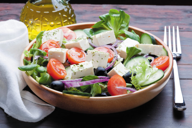 Greece feta salad