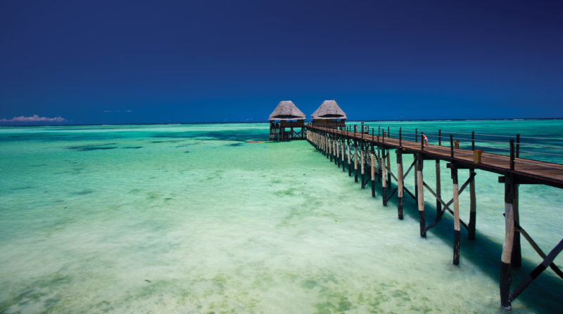 Zanzibar beach jetty sea