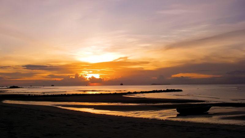 Sunset Zanzibar beach