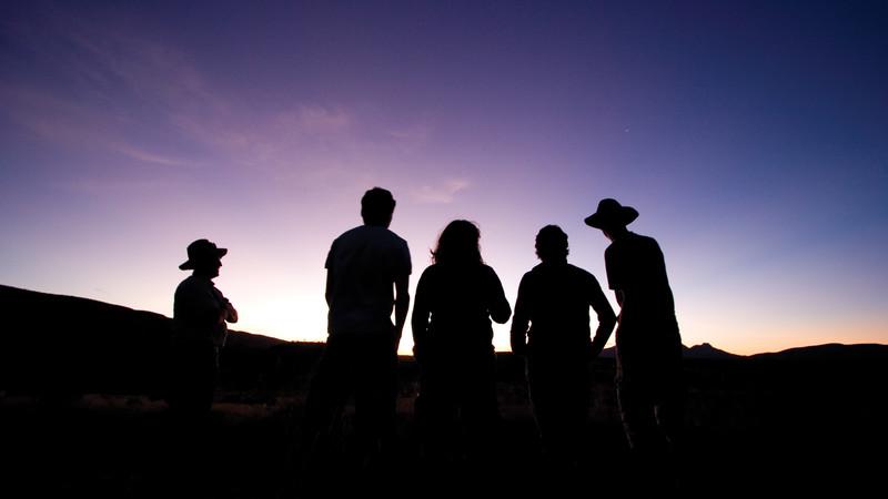 Australian desert silhouettes