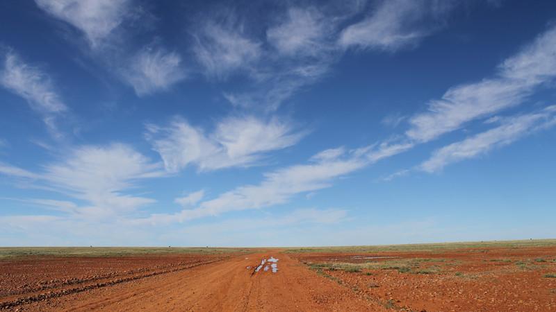 Endless skies in the Australian desert
