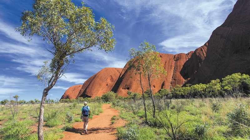 Uluru in Outback Australia