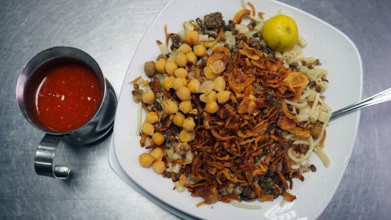 Local Egyptian specialty kushari