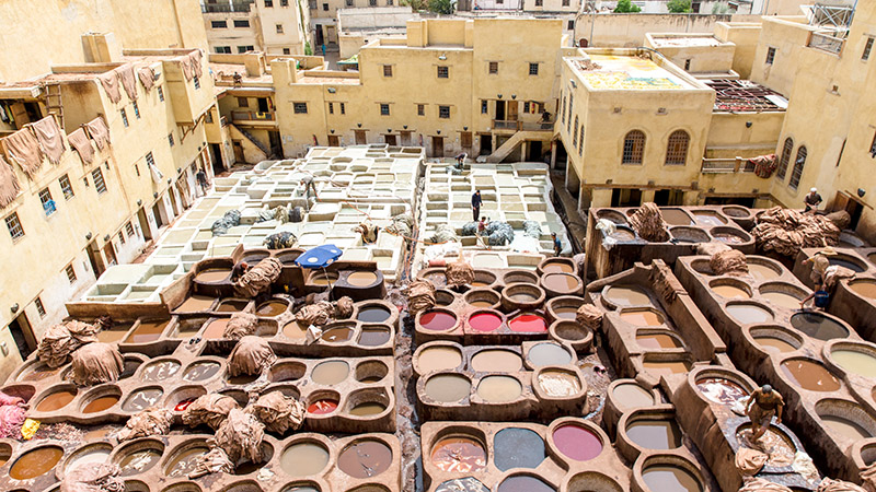 Morocco Imperial cities_Tanneries