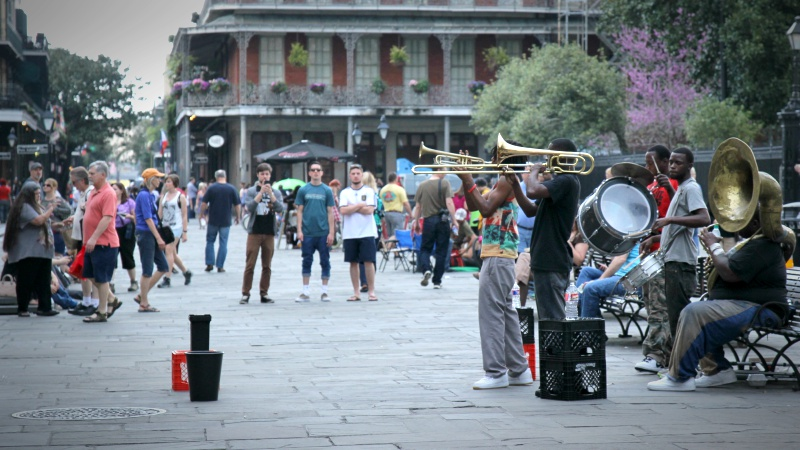 Live street music in the French Quarter New Orleans