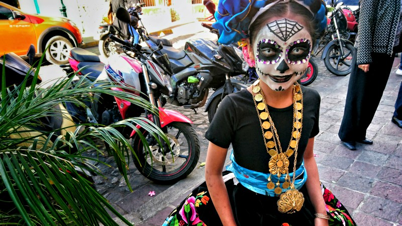 Day of the Dead costume in Mexico