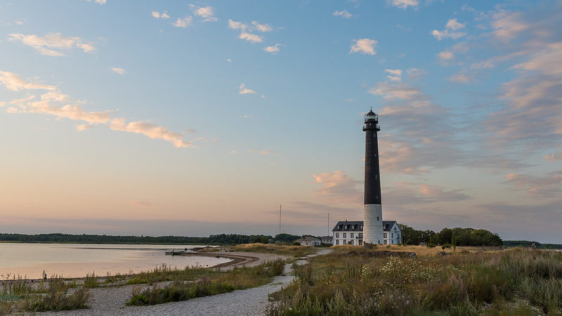 Sorve lighthouse at sunset, Saaremaa