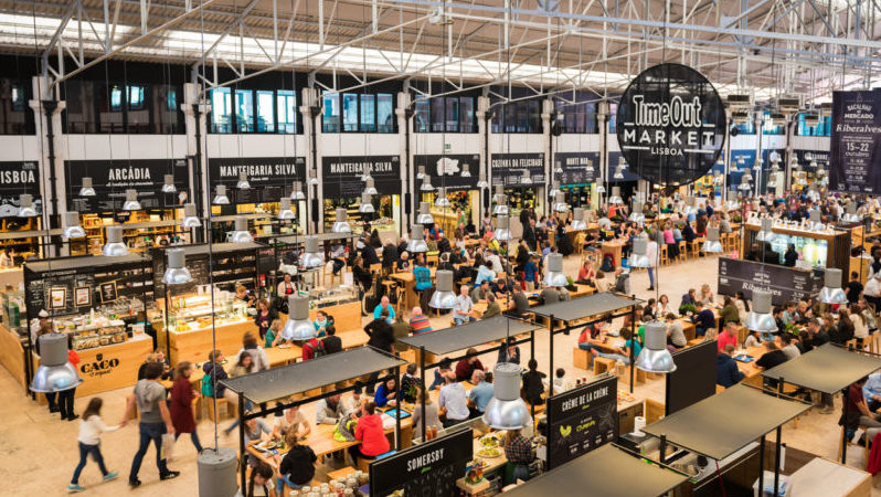 Food Market Mercado da Ribeira Lisbon Portugal