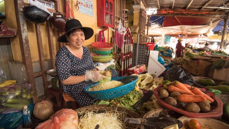 A woman at the market in Hoi An