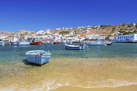 Mykonos beach Greece