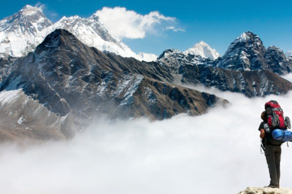 Everest Base Camp trekker in Nepal