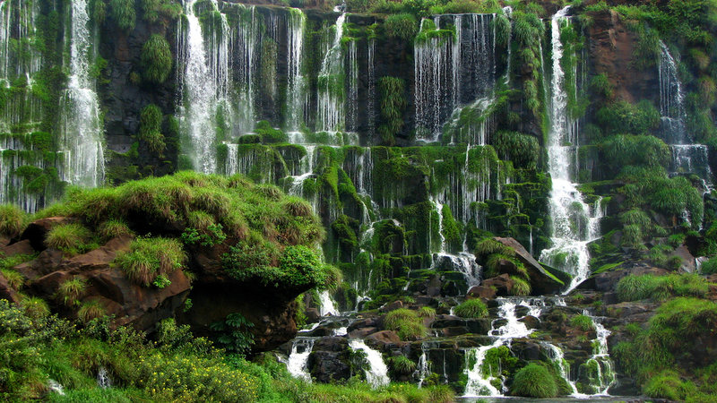 Waterfall Iguazu Argentina Brazil