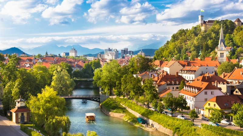 Ljubljana's scenic river