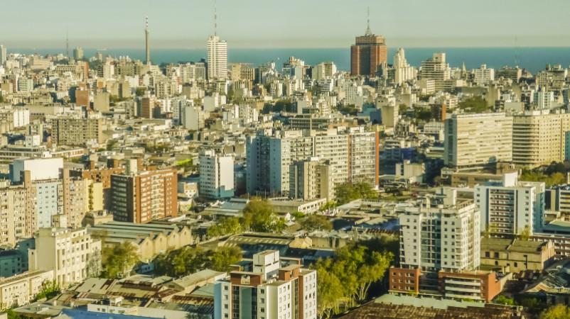 The Montevideo skyline, Uruguay