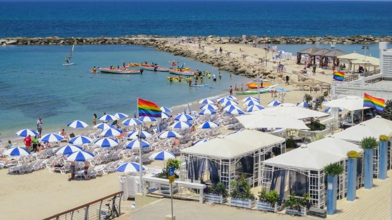 Tel Aviv's gay beach, Hilton Beach
