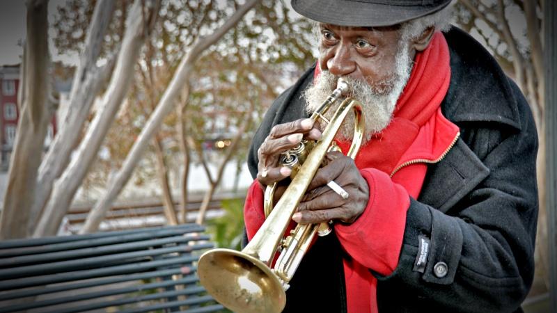 Trumpet player New Orleas