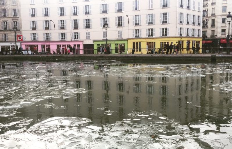 Canal Saint-Martin winter Paris