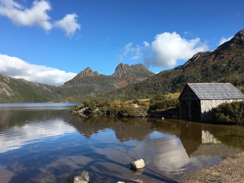 Dove Lake Boathouse Tasmania Australia