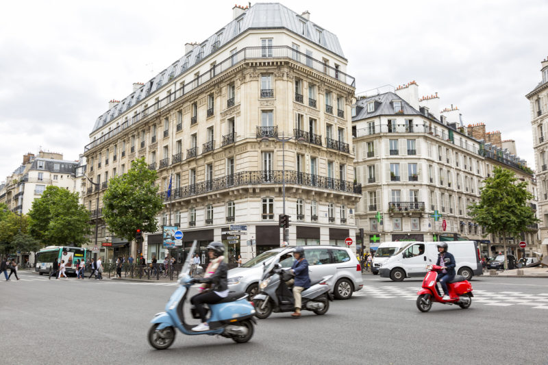 Street Scene, Boulevard St-Germain, Paris, France