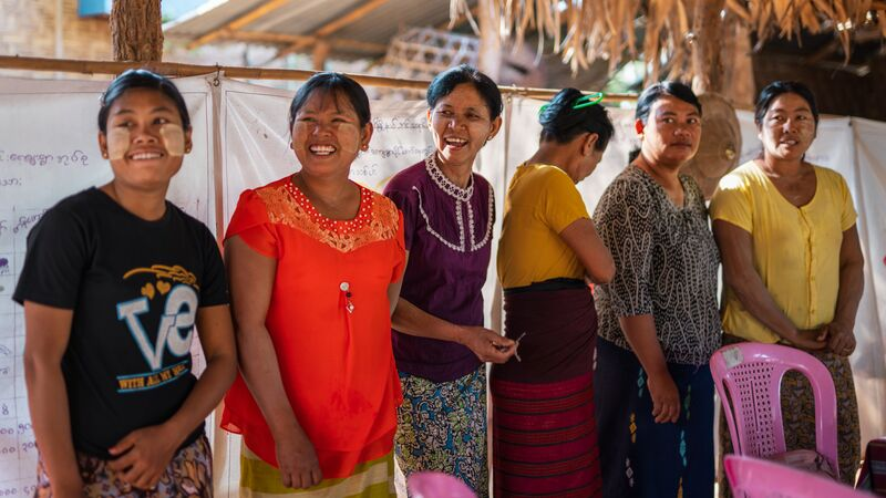 A group of local women at a CBT in Myanmar