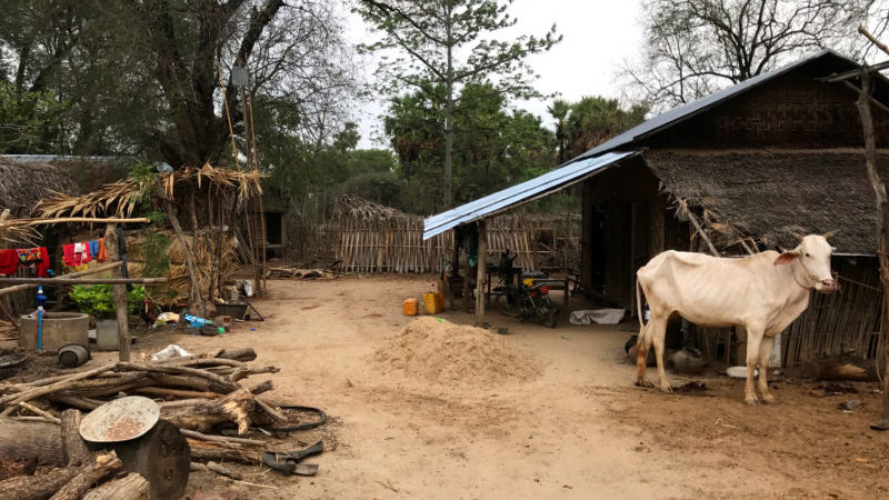 Community-based tourism in Myanmar: a typical family home in rural Myanmar