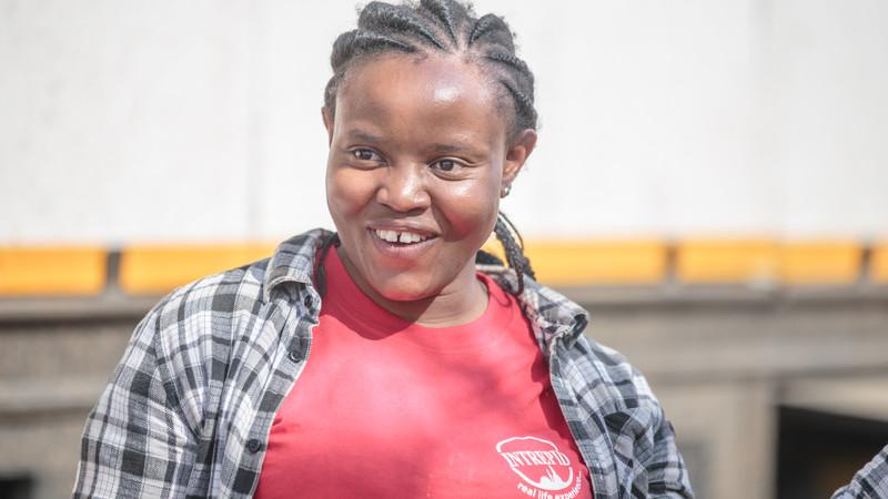 Local Intrepid trip leader Florence in Kenya