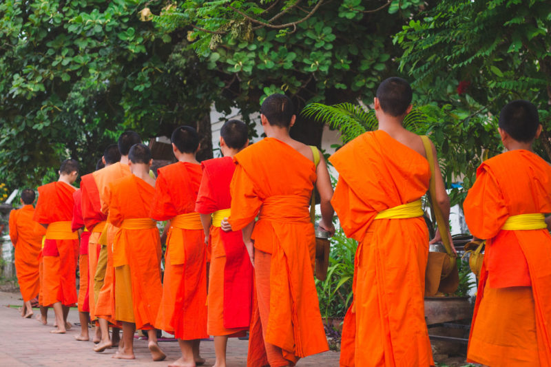 Alms Giving Ceremony Luang Prabang Laos