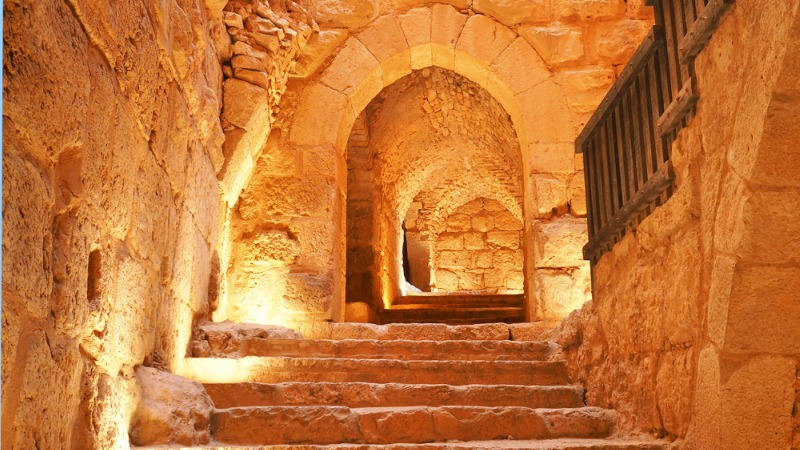 Ancient crusader castle in Jordan