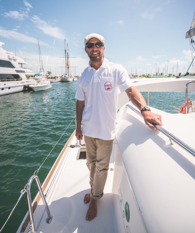 Captain Michael Simon aboard the boat