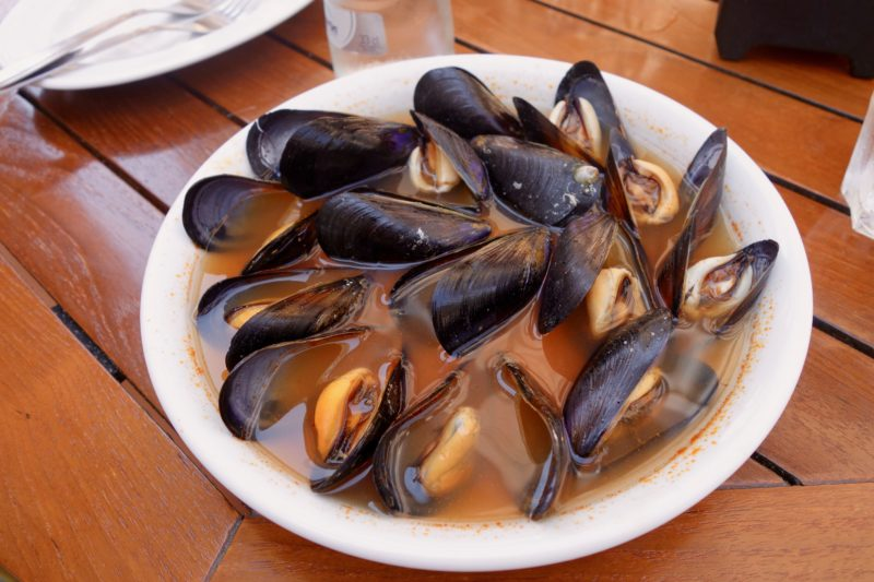 Seafood mussels Valencia Spain