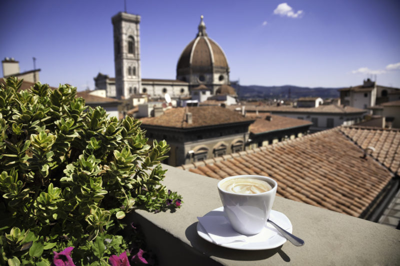 Italian coffee Florence cathedral