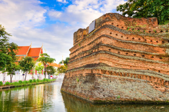 Old wall in Chiang Mai's Old City