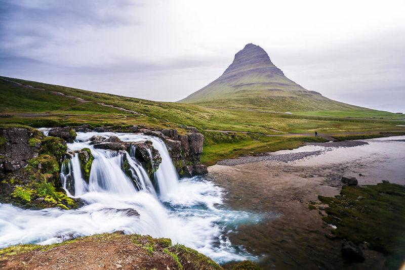 Waterfalls Iceland Kirkjufellsfoss