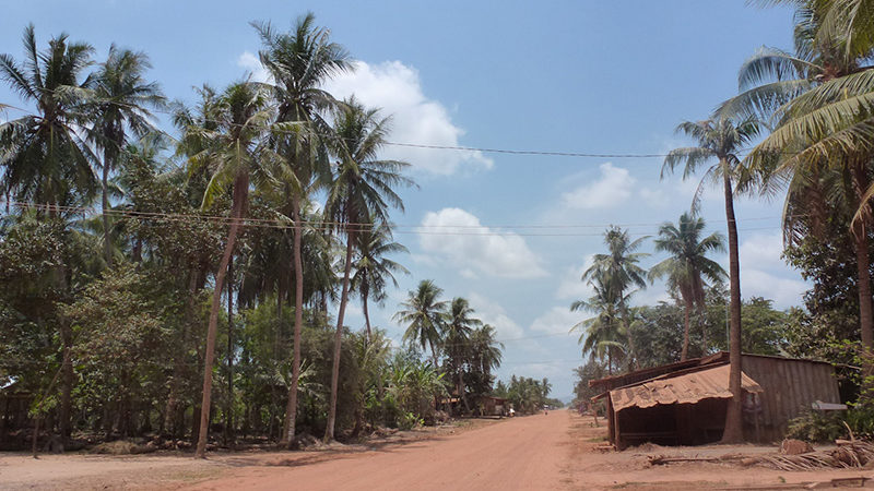 A rural village in Cambodia