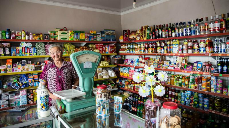 Inside a local Mongolian supermarket