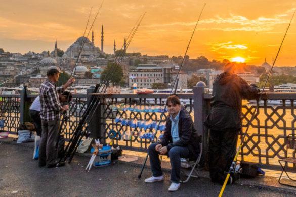 Galata Bridge Turkey Istanbul