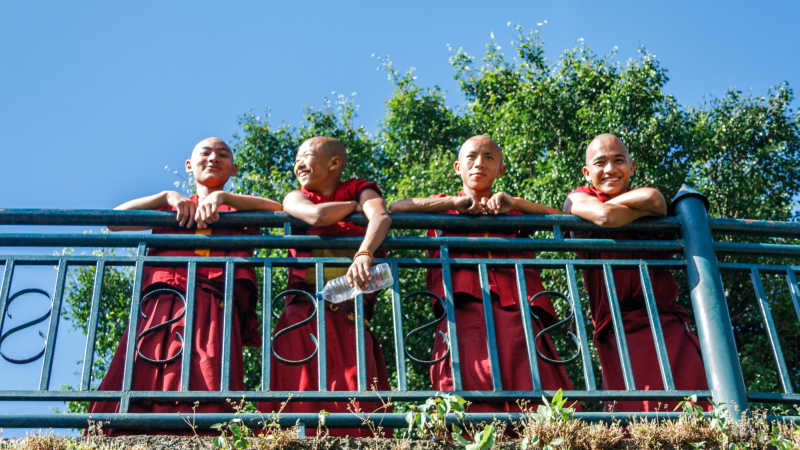 Smiling monks at Kopan Monastery