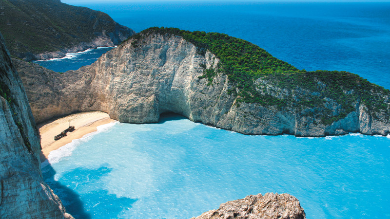 Best beaches in Greece Navagio Beach
