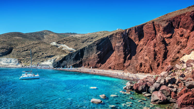 Best beaches in Greece Red Beach Santorini
