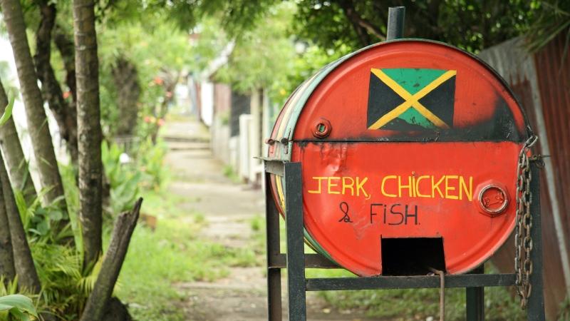 Jerk stand Jamaica