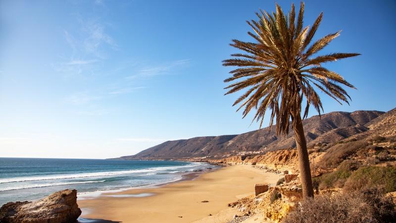 Taghazout Morocco beach