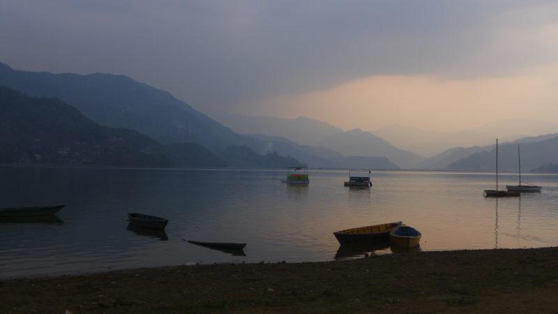 Nepal lake Pokhara