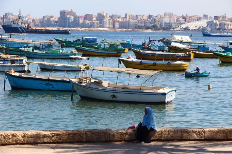 Alexandria waterfront Egypt