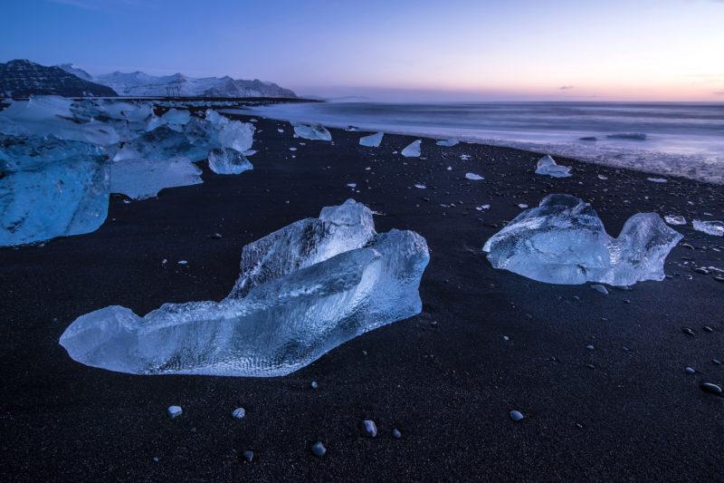 Iceland winter Diamond Beach