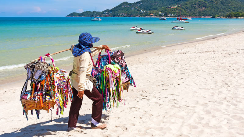 Southern Thailand locals beach