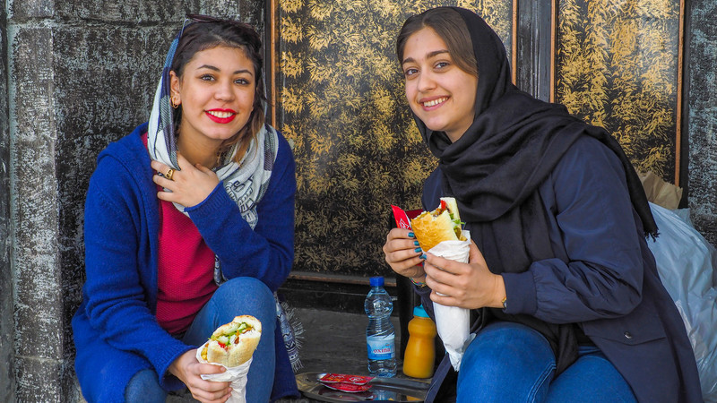 Iran women food